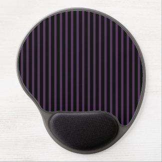 Deep Purple Black Stripe Gel Mouse Pad