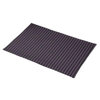 Deep Purple Black Stripe Placemat