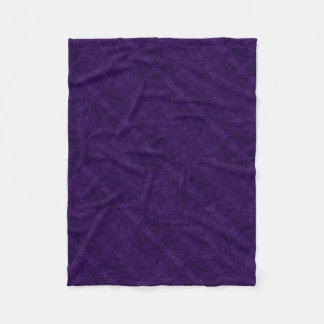 Deep Purple Decor Collection Fleece Blanket