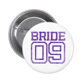 Deep Purple Distressed Bride 09 Pinback Button