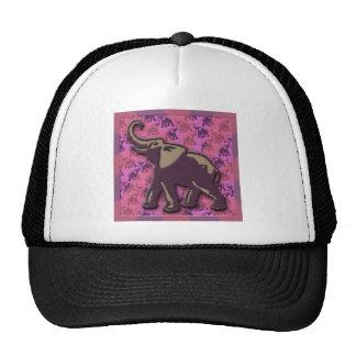 Deep Purple Elephant Mesh Hats