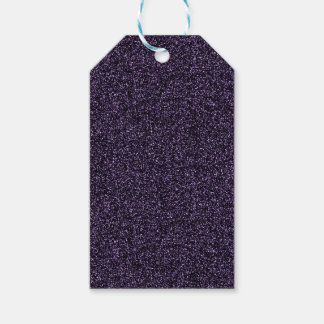 Deep purple faux glitter gift tags