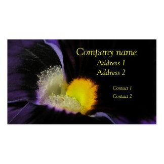 Deep Purple Floral Macro Business Card