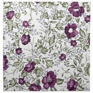 Deep Purple Floral Napkin