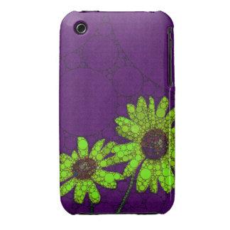 Deep Purple Florescent Sunflowers iPhone 3 Case-Mate Cases