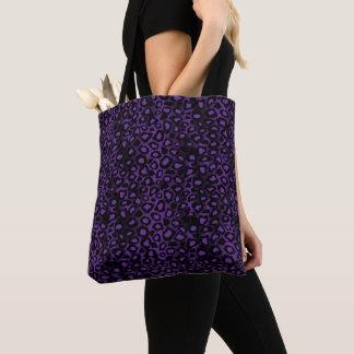 Deep Purple Leopard Pattern Tote Bag