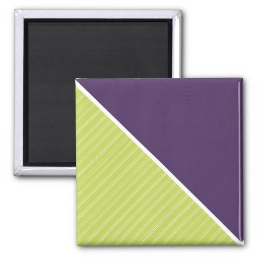 Deep Purple & Lime Green Fridge Magnet