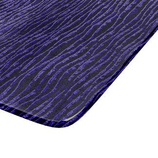 Deep purple lines, waves pattern, curvy shapes cutting board