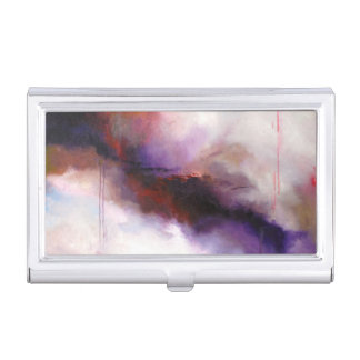 Deep Purple Modern Abstract Business Card Holder