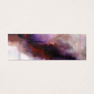 Deep Purple Modern Abstract (Kimberly Turnbull Art Mini Business Card