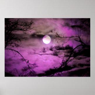 Deep Purple Moonlight Poster