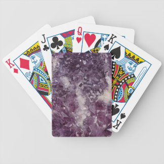 Deep Purple Quartz Crystal Bicycle Playing Cards