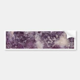 Deep Purple Quartz Crystal Bumper Sticker