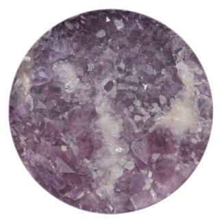 Deep Purple Quartz Crystal Plate