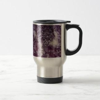 Deep Purple Quartz Crystal Travel Mug