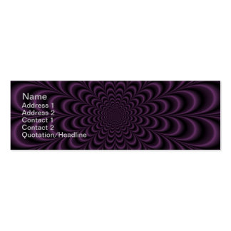 Deep Purple Succulent Card Pack Of Skinny Business Cards