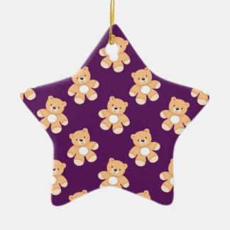 Deep Purple Teddy Bear, Bears Christmas Tree Ornament