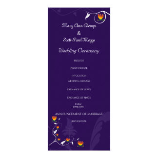 Deep Purple with vibrant gloriosa lily Personalized Announcements