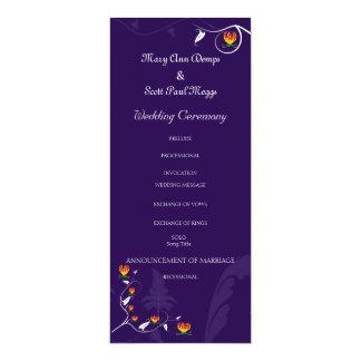 Deep Purple with vibrant gloriosa lily 4x9.25 Paper Invitation Card