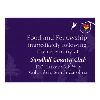 Deep Purple with vibrant gloriosa lily Invites