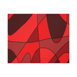 Deep Red Abstract Canvas Print