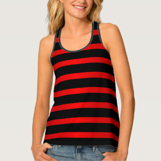 Deep Red and Black Stripes Singlet
