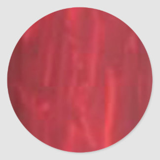 Deep Red - Artist Created Acrylic Look Classic Round Sticker