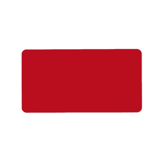 Deep red background blank custom label