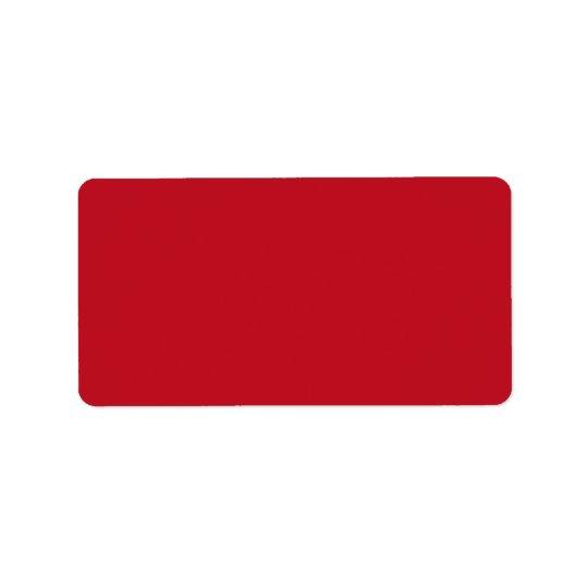 Deep red background blank custom label address label