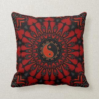 Deep Red Balance (Yin Yang) Cushion / Pillow