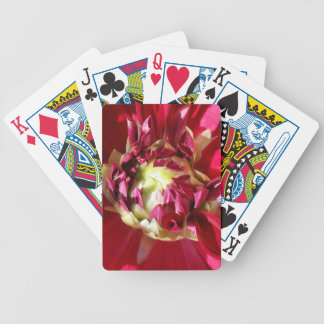 deep red bloom bicycle playing cards