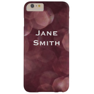 Deep Red Bokeh Barely There iPhone 6 Plus Case