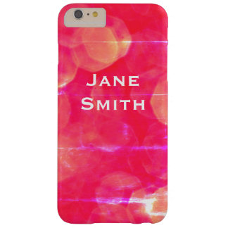 Deep Red Bokeh Grunge Barely There iPhone 6 Plus Case