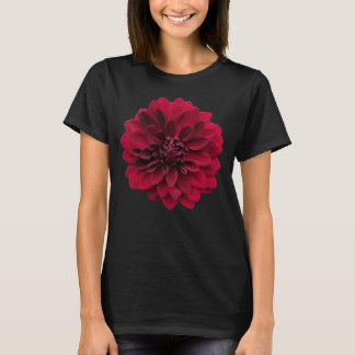 Deep Red Dahlia Flower T-Shirt