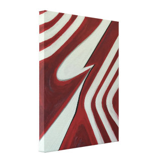 Deep red flow canvas print