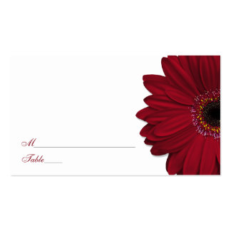 Deep Red Gerber Daisy Wedding Place Cards Pack Of Standard Business Cards