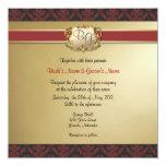 Deep Red & Gold Elegant Wedding Invite - 2