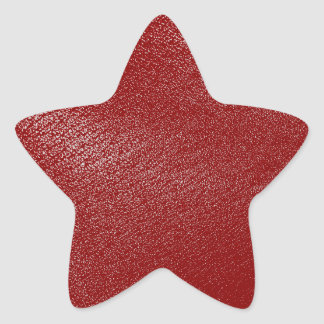 Deep Red Leather Look Star Sticker