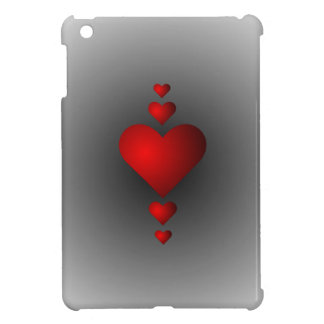 Deep Red Love Hearts Cover For The iPad Mini