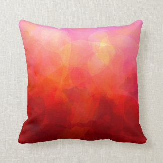 Deep Red Orange Yellow Watercolor Background Cushion