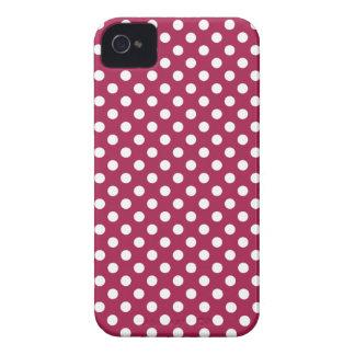 Deep Red Polka Dot Blackberry Bold Case
