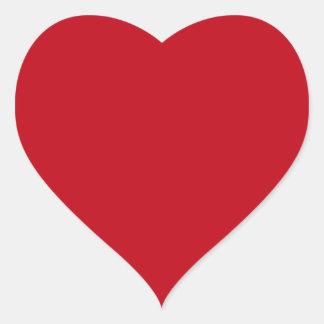 Deep red romantic love heart shaped heart sticker