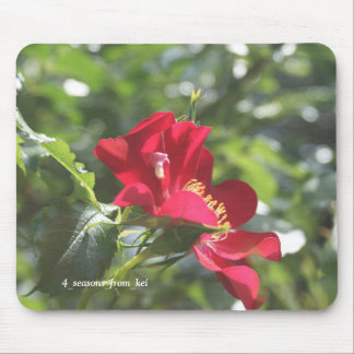 Deep-red rose* mouse pad