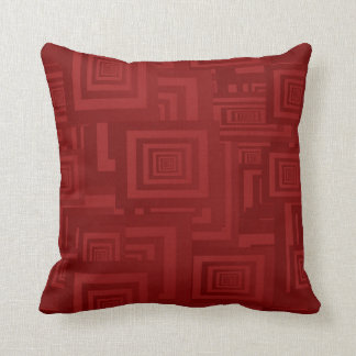Deep Red Squares Cushion