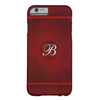 Deep Red Swirls | DIY Monogram Barely There iPhone 6 Case