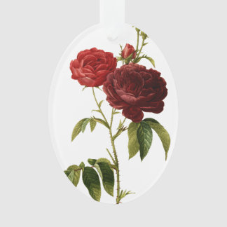 Deep red vintage roses painting