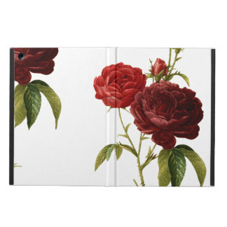 Deep red vintage roses painting cover for iPad air