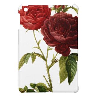Deep red vintage roses painting iPad mini cases
