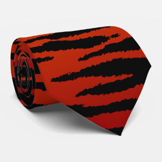 Deep Red Zebra Stripe Tie
