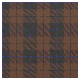 Deep rich brown blue/black stripe fabric
